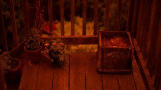 Orange light on deck
